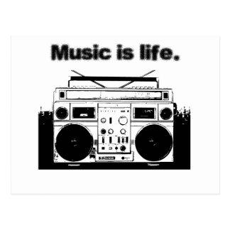 Postal La música es vida