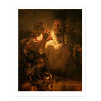 Postal La negación de San Pedro, 1660 (aceite en lona)