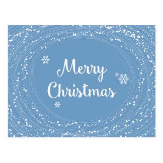 Postal La nieve alegre de las Felices Navidad protagoniza