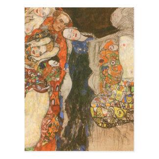 Postal La novia (inacabada) por Gustavo Klimt