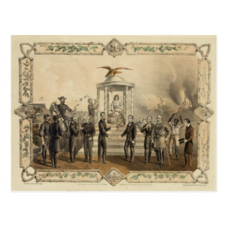 Postal La oferta pasada de presidente Lincoln de la