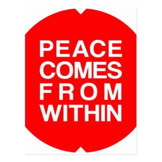 Postal La paz viene de dentro