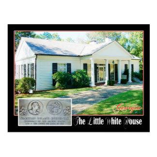 Postal La pequeña Casa Blanca del FDR, Warm Springs, GA