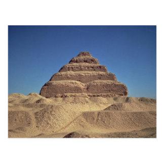 Postal La pirámide del paso de rey Djoser, c.2630-2611