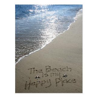 Postal La playa es mi lugar feliz