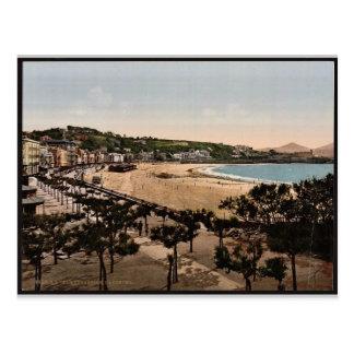 Postal La playa, vintage Photochrom de San Sebastián,