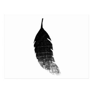 Postal La pluma del cuervo