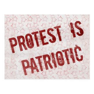 Postal La protesta es patriótica