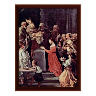 Postal La purificación de la Virgen de Reni Guido