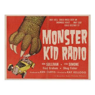 Postal La radio del niño del monstruo encuentra al