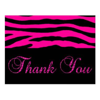 Postal La raya rosada de la cebra le agradece