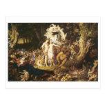 Postal La reconciliación de Oberon y del Titania, 1847