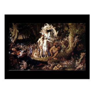 Postal La reconciliación del Titania y de Oberon