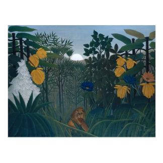 Postal La refracción del león - Henri Rousseau