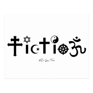 Postal La religión es ficción