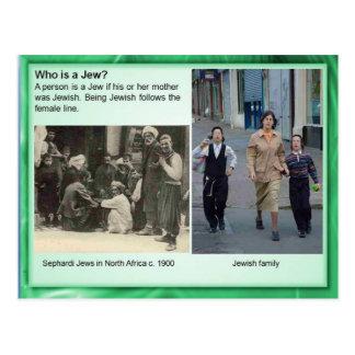 Postal ¿La religión, judaísmo, quién es un judío?