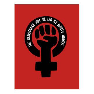 Postal La resistencia será llevada por las mujeres
