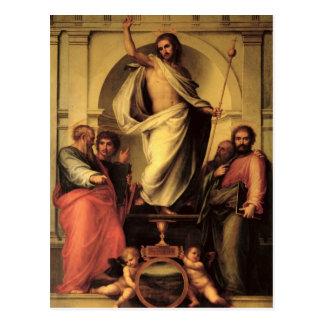 Postal La resurrección de Cristo