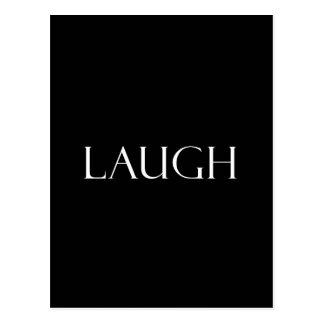 Postal La risa cita cita inspirada de la risa
