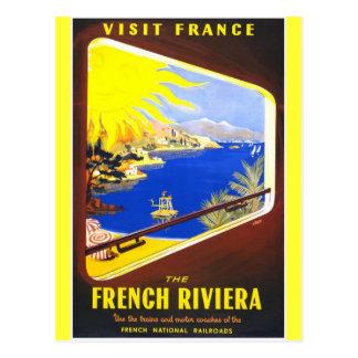 Postal La riviera francesa