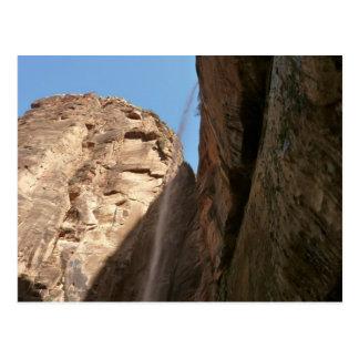 Postal La roca que llora de Zion en el parque nacional de
