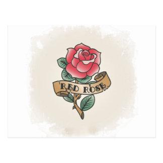 Postal La Rosa Vintage Tatuaje ideas de regalo