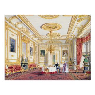 Postal La sala de estar blanca en el castillo de Windsor