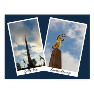 Postal La señora de oro de Luxemburgo