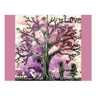 Postal La serie del árbol: Amor