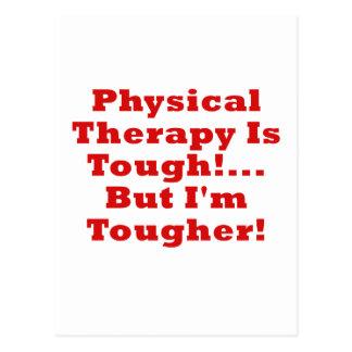 Postal La terapia física es dura pero Im más dura