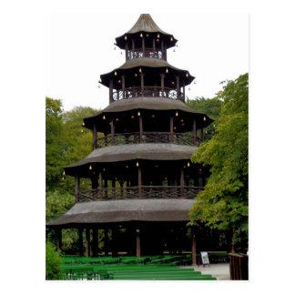 Postal La torre china en Englischer Garten