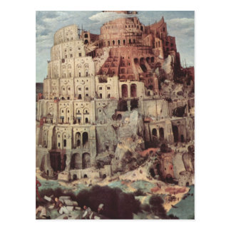 Postal La torre de Babel - Pieter Bruegel la anciano