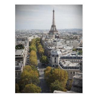 Postal La torre Eiffel en París (viaje Eiffel del La)