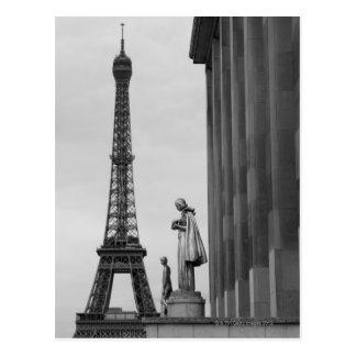 Postal La torre Eiffel es un enrejado del siglo XIX del