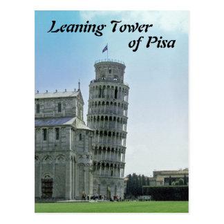Postal La torre inclinada de Pisa