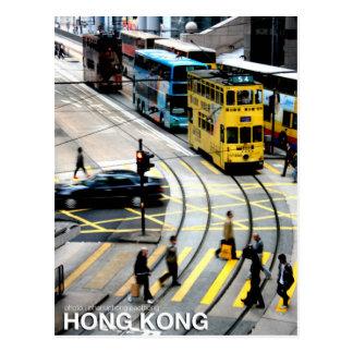 Postal La tranvía de Hong Kong
