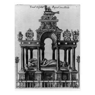 Postal La tumba de Elizabeth I, 1620