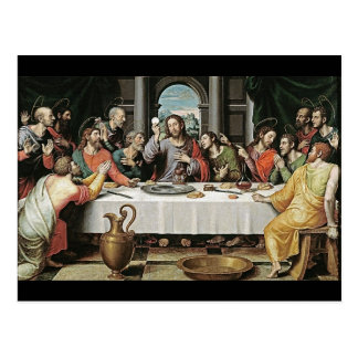 Postal La última cena de Juan de Juanes