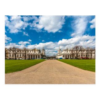 Postal La universidad naval real vieja, Greenwich,