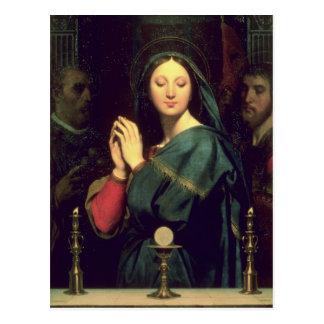 Postal La Virgen con el anfitrión, 1841