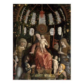 Postal La Virgen de la victoria o Madonna y el niño