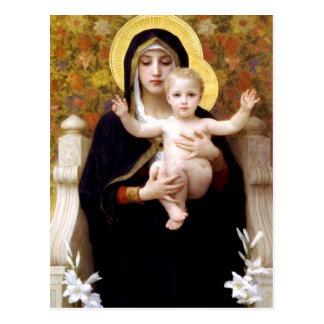 Postal La Virgen del Lillies