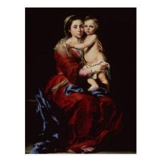 Postal La Virgen del rosario, c.1650