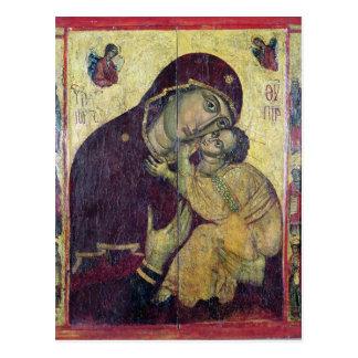 Postal La Virgen Eleousa, de Nessebar