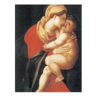 Postal La Virgen y el niño