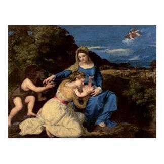 Postal La Virgen y el niño con los santos, 1532