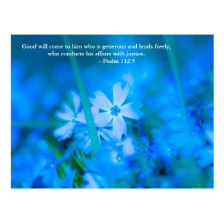 Postal La voluntad viene a él que sea abundante y preste