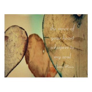 Postal La voz de su corazón susurra a mi alma