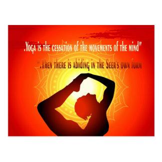"""Postal La """"yoga es el cese de los movimientos de la mente"""