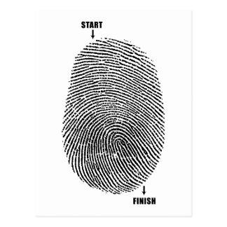 Postal Laberinto del dedo